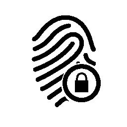 指紋セキュリティ無料アイコン