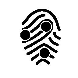 サークル マーク無料アイコンの付いた指紋します。