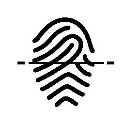 指紋のスキャン中で無料のアイコン