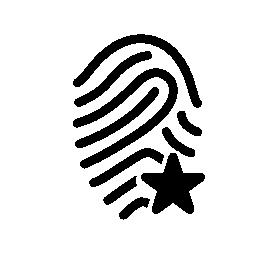 星の形の無料アイコンの付いた指紋概要