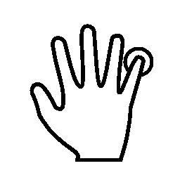 小指指印刷スキャン無料アイコン