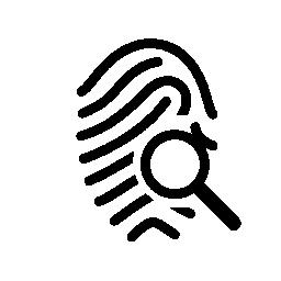 無料の虫眼鏡アイコンで指紋概要