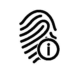 指紋情報シンボル無料アイコン