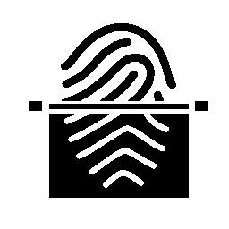 指紋スキャン半分ビュー無料アイコン
