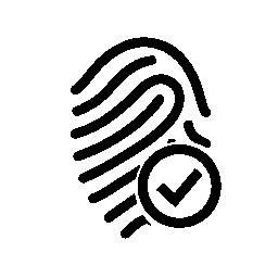 指紋チェック マーク無料アイコンの概要