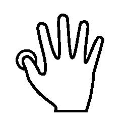 親指の指紋のスキャン無料アイコン