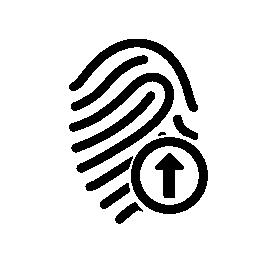 無料のアイコンを矢印の付いた指紋概要
