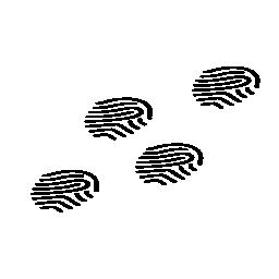 指紋概要無料アイコン