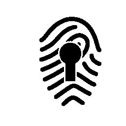 鍵穴無料アイコンの付いた指紋します。