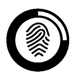 指紋スキャン ロード無料のアイコン