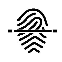 指紋の継続的なスキャン無料のアイコン