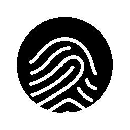 無料のアイコンを黒の背景に白い輪郭を指紋します。