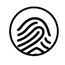 指紋サークル形状の無料アイコンでマーク