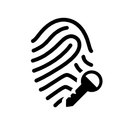 キーの無料アイコンの付いた指紋します。
