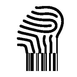 バーコードの無料アイコンを回す指紋