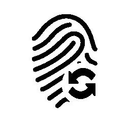リフレッシュ シンボル無料アイコンと指紋します。