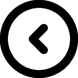 サークル無料アイコンの内側の左矢印