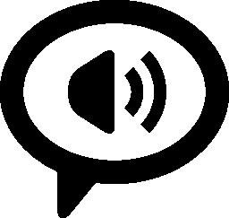 対話シンボル無料アイコン内部スピーカー