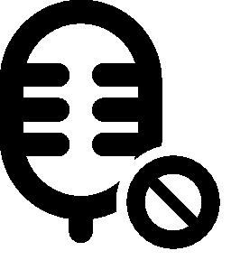 ミュート記号無料アイコンとマイク