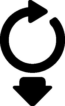 無料のアイコンの下の矢印と下矢印をループ