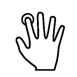 指紋の人差し指の無料のアイコンを使用してスキャン