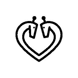 ハート形の飾り無料アイコン