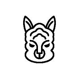 羊の顔の輪郭の無料アイコン