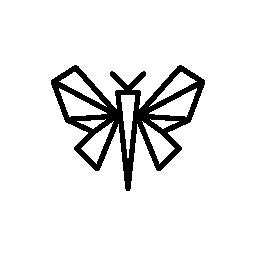 蝶折り紙無料アイコン