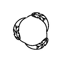 円形羽概要デザイン無料のアイコン