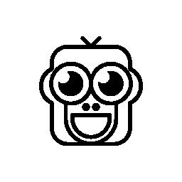 幸せな猿顔のバリアント無料アイコン