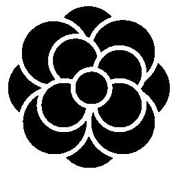 多くの花弁無料アイコンと花バリアント
