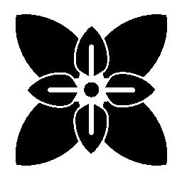 無料アイコンの葉花の変形