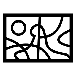 抽象絵画風景無料アイコン