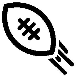 ラグビー ボール運動無料アイコン
