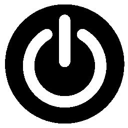 電源円形のボタン無料アイコン