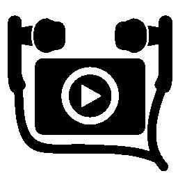 耳介の無料アイコンとリスニングの音楽ビデオ クリップ