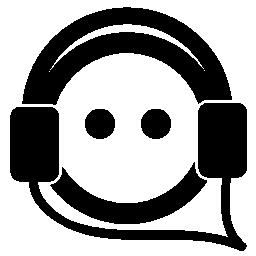 人の顔が auriculars 無料アイコンと音楽を聴く