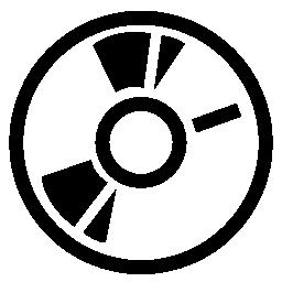黒の詳細無料アイコン音楽ディスク