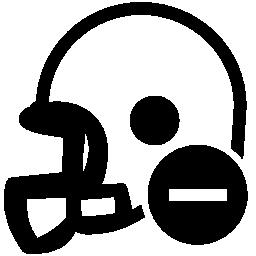 マイナス記号無料アイコンの付いたラグビー ヘルメット