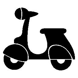 ベスパ スクーター シルエット無料アイコン