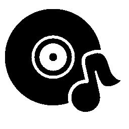 音楽ノート無料アイコン音楽ディスク