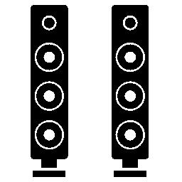 テレビのスピーカーの無料のアイコン