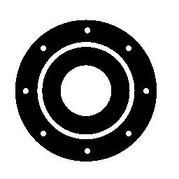 サークル スピーカー無料アイコン