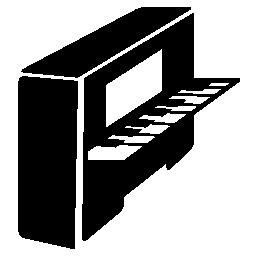 ピアノ側表示無料アイコン
