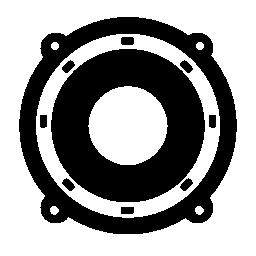 無料の円形のスピーカーのアイコン