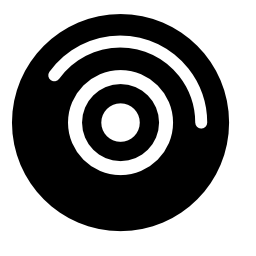 白い詳細無料アイコンとオーディオ ディスク