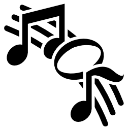 スタッフのバリアントの無料のアイコン上の音符