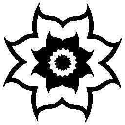 曲線の花びら無料アイコンと花します。