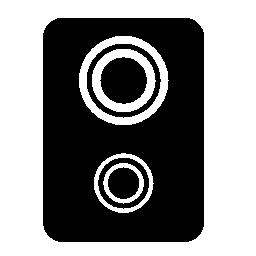 ダブル ウーファー スピーカー無料アイコン