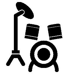 ドラムは、バリアントの無料アイコンを設定漫画
